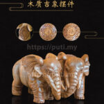Handcrafted Wooden Treasure - Auspicious Elephant (One unit)