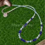 925银青金石海蓝宝石项链