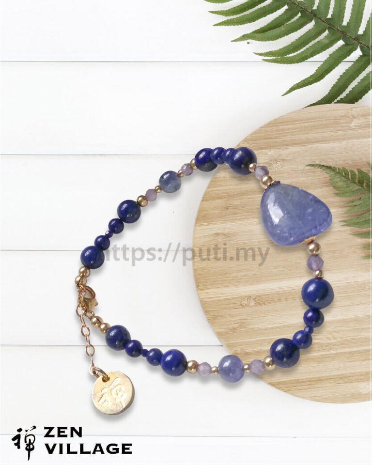 GF蓝宝石青金紫水晶手链