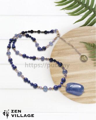 GF蓝宝石青金紫水晶项链
