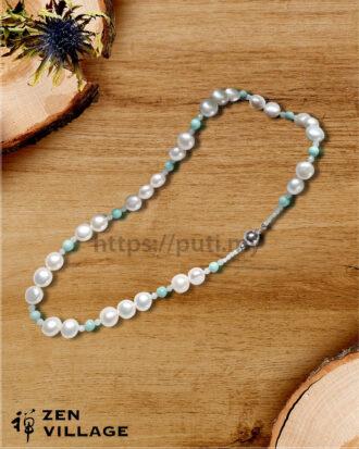 绿松石珍珠项链